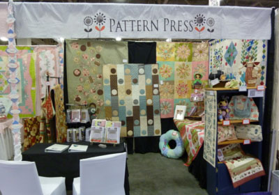 One Day In May on the Pattern Press stand at International Quilt Market 2