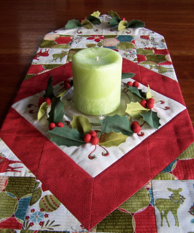 Deck the Halls Table Runner ~ along length