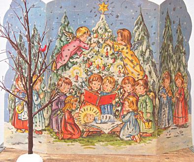 Vintage advent calendar 1