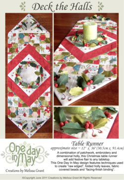OD5 Deck the Halls Table Runner ~ pattern cover