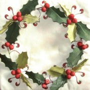 Deck the Halls Table Runner - central panel