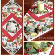 Deck the Halls Table Runner - collage One Day In May