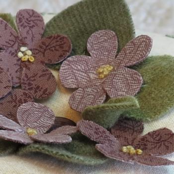 For the Love of Violets - flower leaf detail