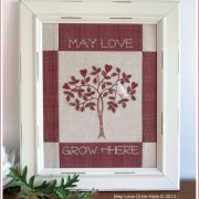 May Love Grow Here - redwork
