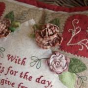 Thankful Block 1 - cushion closeup (1)