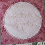Thankful Block 2 - faux doily