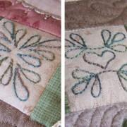 Thankful Block 2 - stitched mini-blocks