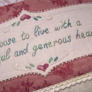 Thankful Block 3 - closeup embroidered panel