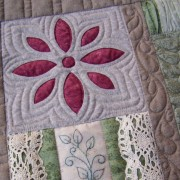 Thankful Block 4 - reverse applique and embroidered panel