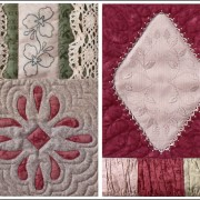 Thankful Block 6 -  faux doily, reverse applique, embroidery