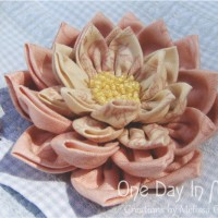 Waterlily Dreaming Brooch  ~ One Day In May