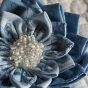 Waterlily Dreaming Brooch in blues