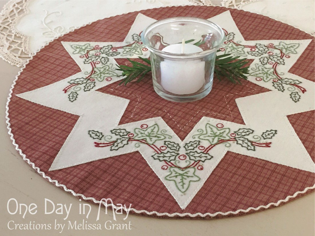A Festive Star - Embroidered Doily
