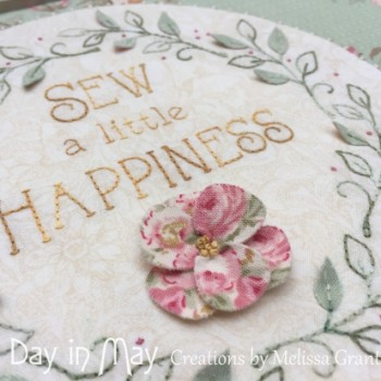 Sew Tidy - dimensional flower and leaves