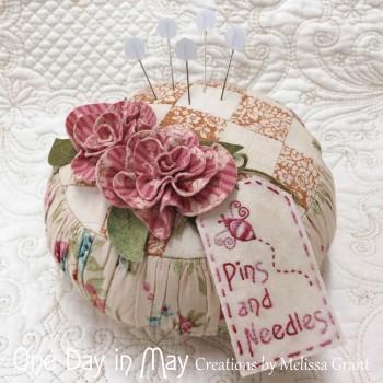 Roses and Ruching - Pincushion