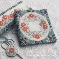 Petite Blooms - Needlebook with Scissor Fob