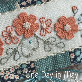 Petite Blooms - Needlework Roll Detail