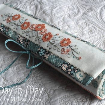 Petite Blooms - Needlework Roll side view