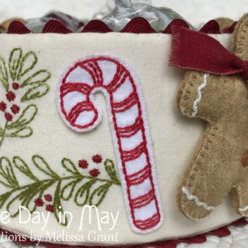 Sweet Treats - double-sided fabric candy cane