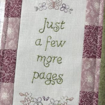 Sweet Lilacs - inside panel with embroidered verse