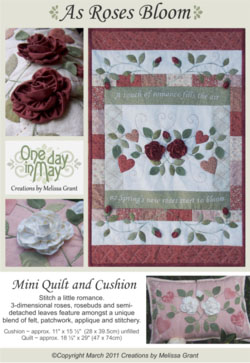 As Roses Bloom pattern front - One Day In May