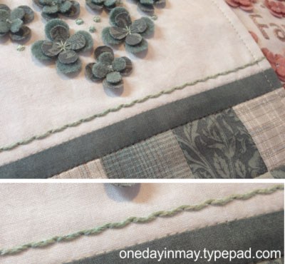 Threaded backstitch 5 ~ One Day In May