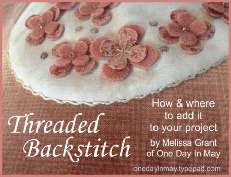 Threaded backstitch 2 ~ One Day In May