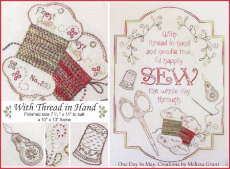 With Thread in Hand collage