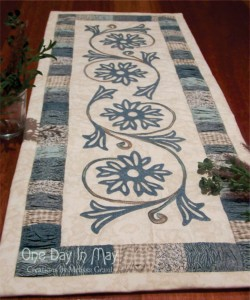 A Cornflower Gathering ~ table runner
