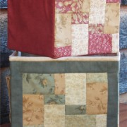 Birds of the Meadow - side patchwork