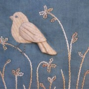 Birds of the Meadow sitting bird panel