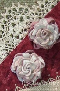 Block 1 features ric-rac roses