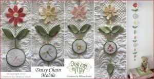 Daisy Chain Mobile - flowers, leaves, garden friends