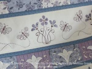 Hannah's Garden - Dancing Butterflies closeup
