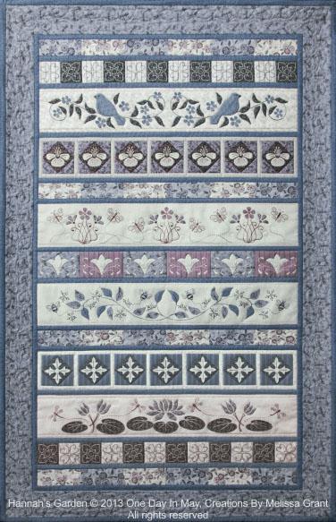Hannah's Garden - row by row quilt