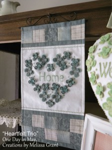 Heartfelt Trio - Home wallhanging