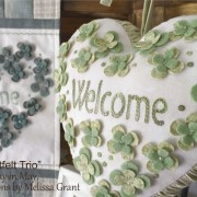 Heartfelt Trio - dimensional flower detail