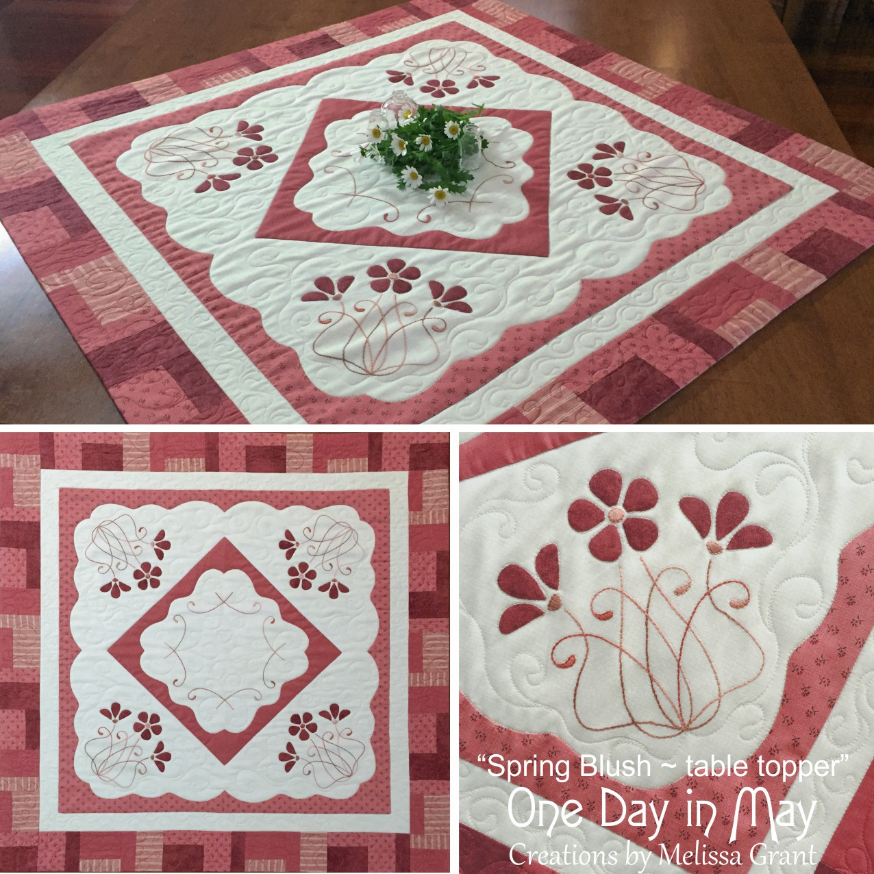 Spring Blush Table Topper - collage