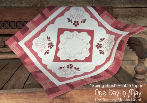 Spring Blush Table Topper