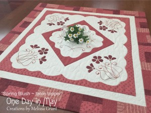 Spring Blush - table topper