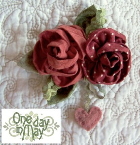 Sweet Roses Brooch - One Day in May