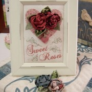 Sweet Roses ~ Brooch and Display