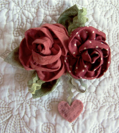 Sweet Roses ~ Brooch