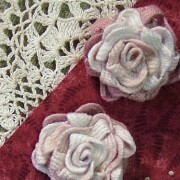 Thankful - 3 blocks are embellished with Ric Rac Roses