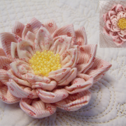 Waterlily Dreaming Brooch in soft pinks