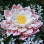 Waterlily Dreaming Brooch ~ pink