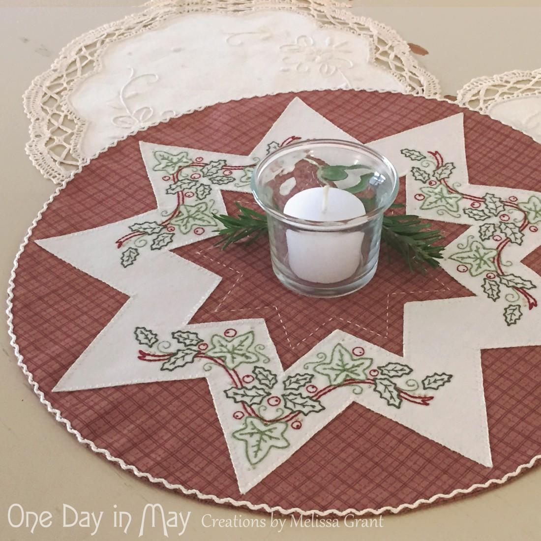 A Festive Star - A Christmas Doily