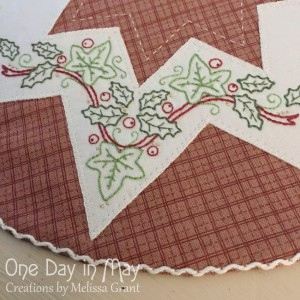 A Festive Star - embroidery and threaded backstitch