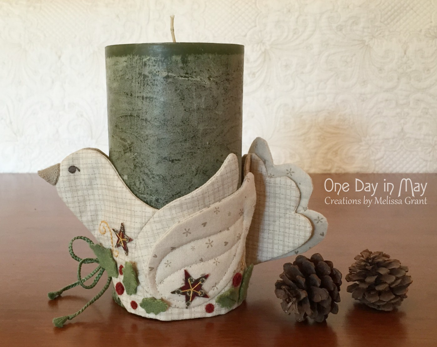 A Merry Dove - candle and jar wrap