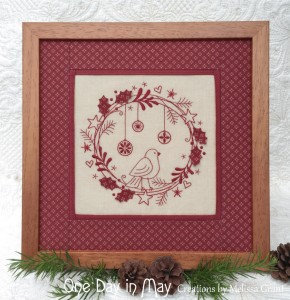 Redwork Christmas Wreath - One Day in May